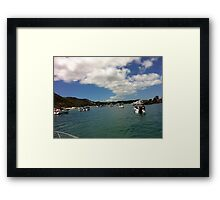 Fishing in Brisbane Framed Print