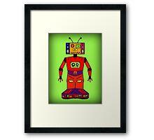 Robot Mix Tape Framed Print