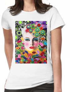 pop art mysterious  Womens Fitted T-Shirt