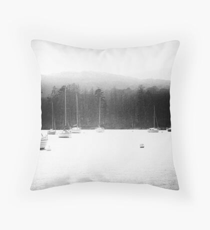 Ambleside Boating. Throw Pillow
