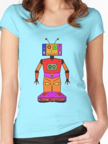 Robot Mix Tape Women's Fitted Scoop T-Shirt