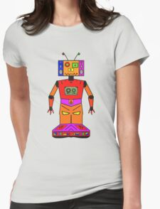 Robot Mix Tape Womens Fitted T-Shirt
