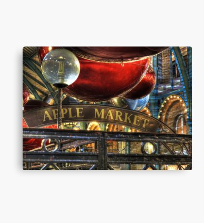 Apple Market Horizontal Canvas Print