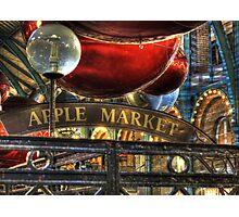 Apple Market Horizontal Photographic Print