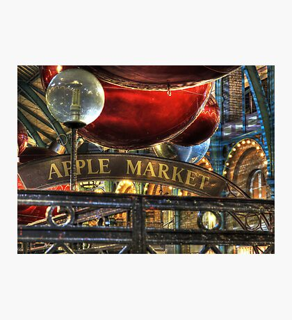 Apple Market Horizontal Photographic Print