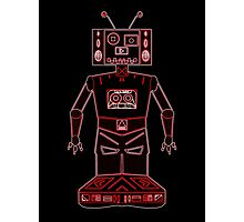 Neon Robot Mix Tape Photographic Print
