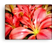 Alstroemeria Bouquet  Canvas Print