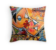 Four directions kiss Throw Pillow