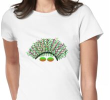 Wavy Hair Womens Fitted T-Shirt