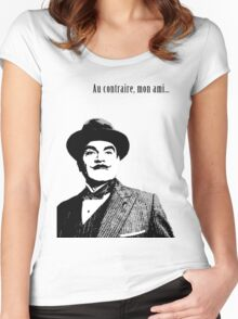 Hercule Poirot Women's Fitted Scoop T-Shirt