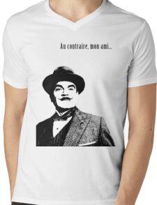 Hercule Poirot Mens V-Neck T-Shirt