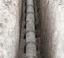 Concrete Pipe in a Trench by rhamm