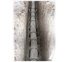 Concrete Pipe in a Trench Poster