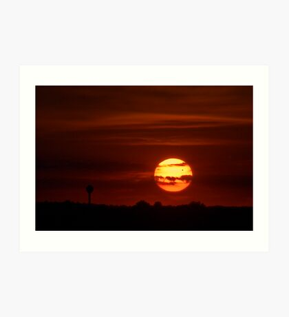 Transit of Venus at Sunset Art Print