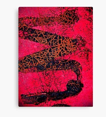 A Red Temptations Abstract Canvas Print