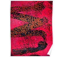 A Red Temptations Abstract Poster