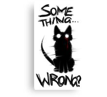 Something wrong...? Canvas Print