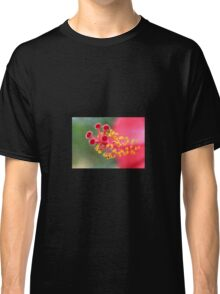Macro Close Up Of Hibiscus Pollen Classic T-Shirt