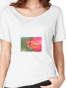 Macro Close Up Of Hibiscus Pollen Women's Relaxed Fit T-Shirt