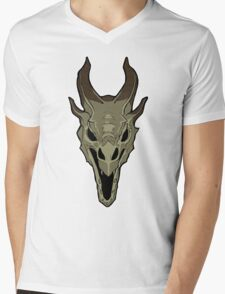 Dragon Skull Mens V-Neck T-Shirt