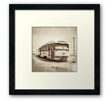 Vintage Streetcar Trolley 4440 Framed Print