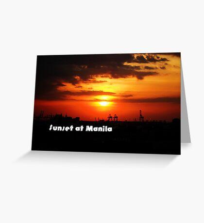 Sunset at Manila Greeting Card