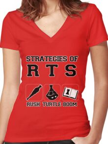 Rush Turtle Boom Women's Fitted V-Neck T-Shirt