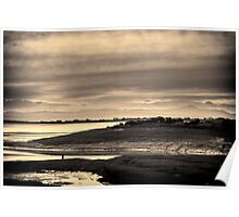 Landscape, Waterfoot, Solway firth, Lake district hills Poster