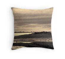 Landscape, Waterfoot, Solway firth, Lake district hills Throw Pillow