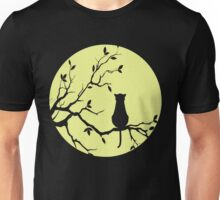 The Cat And The Moon (v2) Unisex T-Shirt