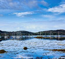 Seascape, Arisaig marina, Locharbar, Scotland by Hugh McKean
