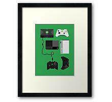 Pixel History - Xbox Framed Print