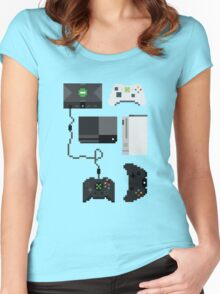 Pixel History - Xbox Women's Fitted Scoop T-Shirt