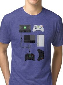 Pixel History - Xbox Tri-blend T-Shirt