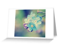 Small, Fragile and Blue Greeting Card