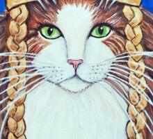 Freya, Goddess of Love & War Cat Sticker