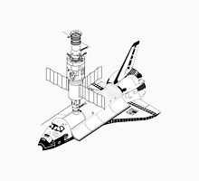 Space Shuttle and Salyut SS Docked Unisex T-Shirt