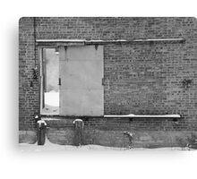 Door to abandoned factory  Canvas Print