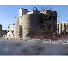 Frozen Factory Photographic Print