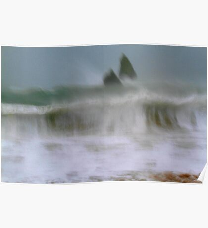 Impressionist Wave - slow exposure. Poster