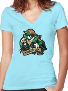 Cast A Summon Women's Fitted V-Neck T-Shirt
