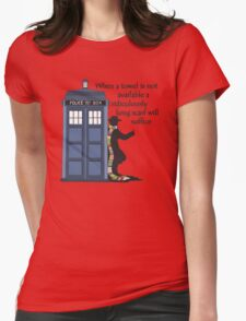 Hitch-hiking Doctor Womens Fitted T-Shirt
