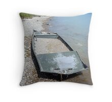 Full Boat but not sunk Throw Pillow