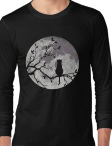 The Cat And The Moon Long Sleeve T-Shirt