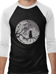 The Cat And The Moon Men's Baseball ¾ T-Shirt