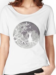 The Cat And The Moon Women's Relaxed Fit T-Shirt