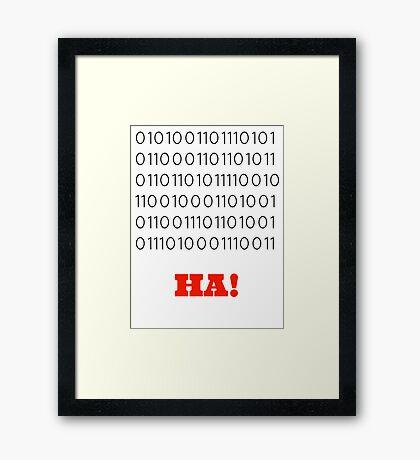 Binary Insults Framed Print