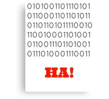 Binary Insults Canvas Print