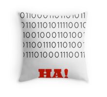 Binary Insults Throw Pillow