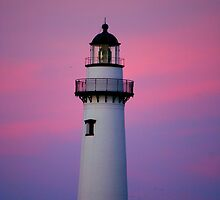 Lighthouse and Sunset by MarksDesigns